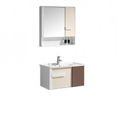 Set mobilier de baie cu oglinda si lavoar ceramic 7386