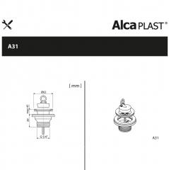 Ventil chiuveta  Alcaplast A31