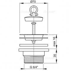 Ventil chiuveta  Alcaplast A33