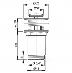 Ventil lavoar CLICK/CLACK Alcaplast A391