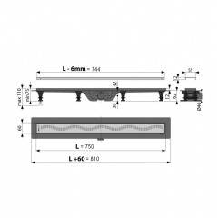 Canal de scurgere Alcaplast APZ8-750