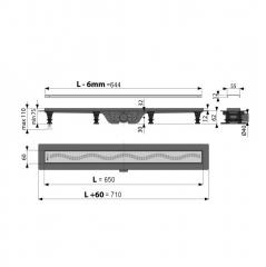 Canal de scurgere Alcaplast APZ8-650