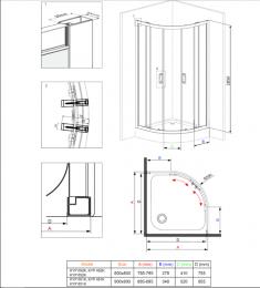 Cabina duș Deante KYP451K